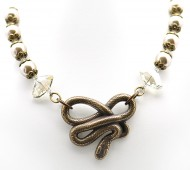 Water Pearl Snake Necklace