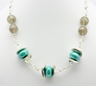 Turquoise and Champagne Necklace