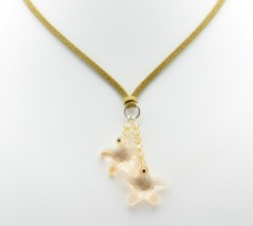 Egg Shell Star Suede Necklace