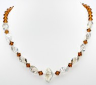 Bronze Crystal Necklace