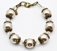 Antique Inspired Fresh Water Pearl Bracelet