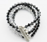 Five Strand Crystal Bracelet